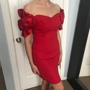Vintage Valentines Cherry Red Dress